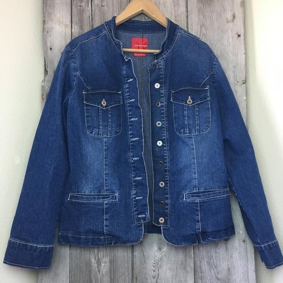 cfa047a721d Gloria Vanderbilt Blue Jean Jacket Womens Size L